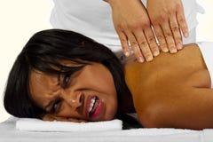 Zły masaż Obrazy Stock