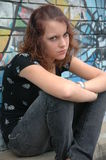 zły nastolatek Fotografia Royalty Free