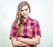 zły nastolatek Zdjęcie Royalty Free