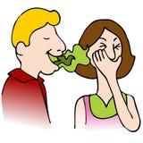 zły oddech ilustracji