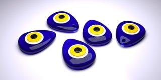 Zły oko lub turecczyzna amulet na białym tle Zdjęcie Stock