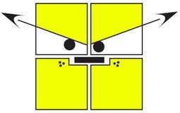 zły pies kwadraty royalty ilustracja