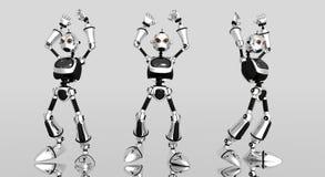 zły robot głupie ilustracji