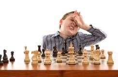 zły ruch szachowy zdjęcie stock