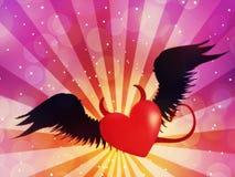 Zły serce ilustracja wektor