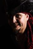 Zły uśmiechający się pirat Zdjęcia Royalty Free