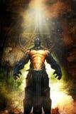 Zły wojownik fantazi demonu belzebub ilustracja wektor