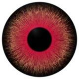 Zły zmrok - czerwona gałki ocznej 3d tekstura ilustracji