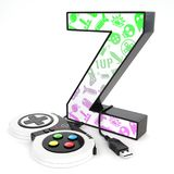 ` Z与电子游戏控制器的` 3d信件 库存照片