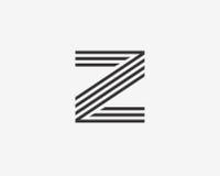 Z信件字母表企业体育 略写法标志象 免版税图库摄影