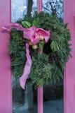 Z łękiem Boże Narodzenie wianek Obraz Royalty Free