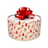 Z łękiem prezenta pudełko Pudełko jest round ilustracja 3 d royalty ilustracja