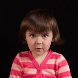 Z śmieszną twarzą śliczny dzieciak Zdjęcie Royalty Free