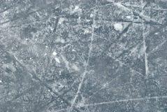 Z śnieżną teksturą lodowy lodowisko fotografia stock