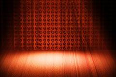 Z światło reflektorów Rocznik czerwona scena Zdjęcie Stock