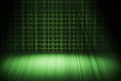 Z światło reflektorów Rocznik zielona scena Fotografia Stock