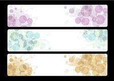 Z abstrakcjonistycznym projektem trzy sztandaru Zdjęcie Royalty Free
