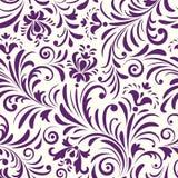 Z abstrakcjonistycznymi kwiatami bezszwowy wzór Obraz Royalty Free