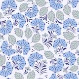 Z abstrakcjonistycznymi kwiatami bezszwowy wzór Zdjęcie Royalty Free