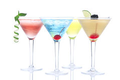 Z ajerówką Martini tropikalni Koktajle Obrazy Royalty Free