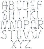 A-Z alfabet Stock Afbeeldingen