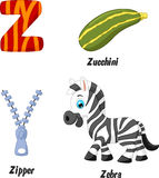 Z alphabet cartoon Stock Photo