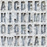 A-Z alphabet on the marble Stock Image