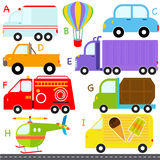 A-Z alphabets : Car / Vehicles / Transportation Royalty Free Stock Photos