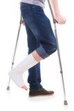 Złamana noga Zdjęcia Stock