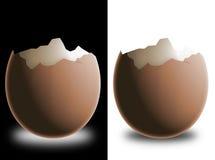 złamany eggshell Zdjęcia Royalty Free