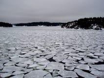 złamany Finlandia lodu fotografia stock
