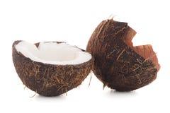 złamany kokosów Obrazy Stock