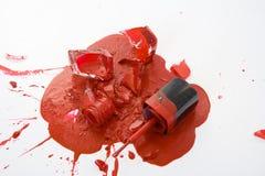 złamany lakier do paznokci Obrazy Royalty Free