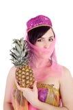 Z ananasem wschodni piękno Zdjęcie Stock