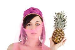Z ananasem wschodni piękno Zdjęcia Royalty Free