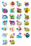 A-z animale della lettera di alfabeto royalty illustrazione gratis