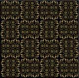 Z arabeskowym ornamentem czarny backgroung Obraz Stock