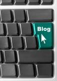 Z błękit komputerowa klawiatura, Zdjęcia Stock