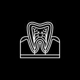 Ząb anatomii linii ikona Obraz Royalty Free