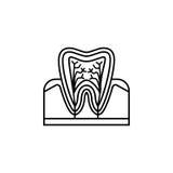 Ząb anatomii linii ikona Fotografia Stock