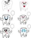 Ząb kolekcja Zdjęcia Stock
