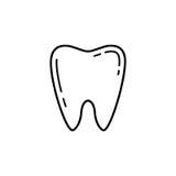 Ząb kreskowa ikona Obraz Royalty Free