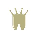 Ząb z korona logem Fotografia Royalty Free