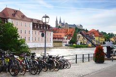 Z Bamberg Bavaria malowniczy krajobraz obraz royalty free