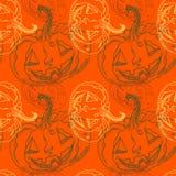 Z baniami Halloween bezszwowy wzór Fotografia Royalty Free