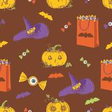 Z baniami halloweenowy tło Zdjęcie Stock
