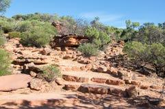 Z-bend Kalbarri: Sandstone Rock Royalty Free Stock Images