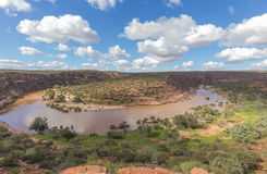 Z BEND OF MURCHISON RIVER IN KALBARRI NATIONAL PARK Royalty Free Stock Photos