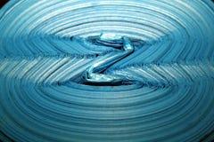 Z bleu, photo abstraite des paquets Photographie stock libre de droits