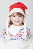 Z Boże Narodzenie filiżanką młoda uśmiechnięta dziewczyna obrazy stock